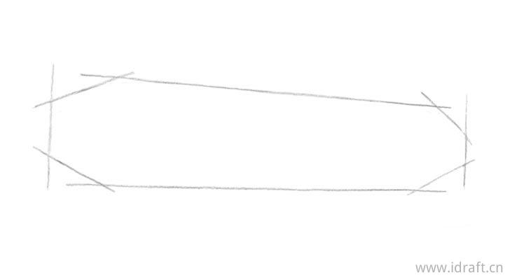 黄瓜素描结构线图