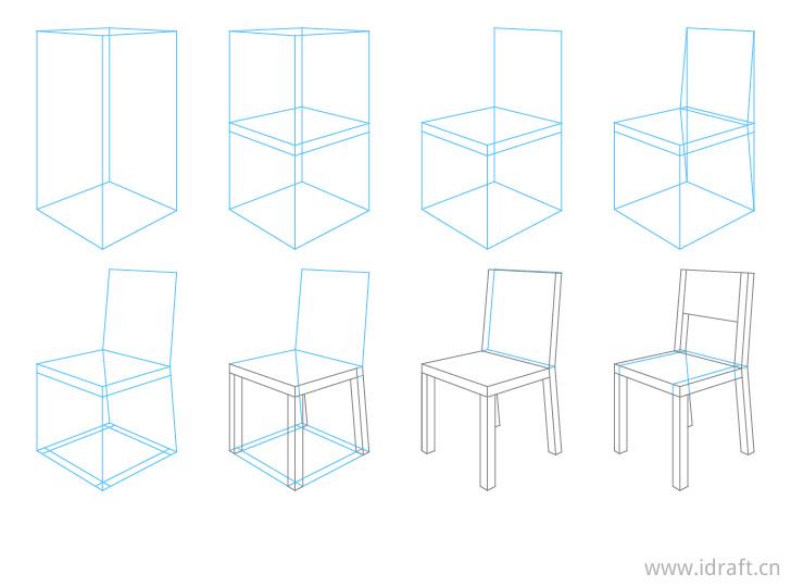 椅子透视画法步骤