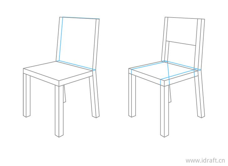 椅子透视画特写