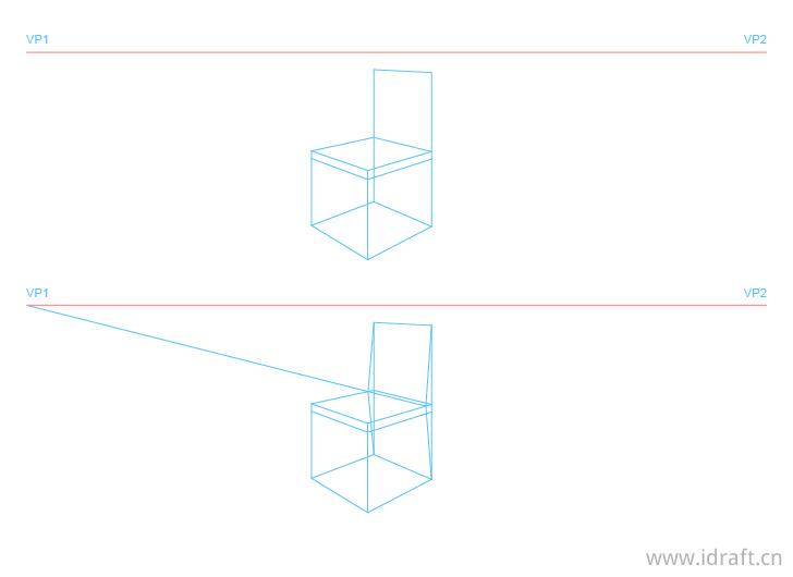 椅背透视结构图