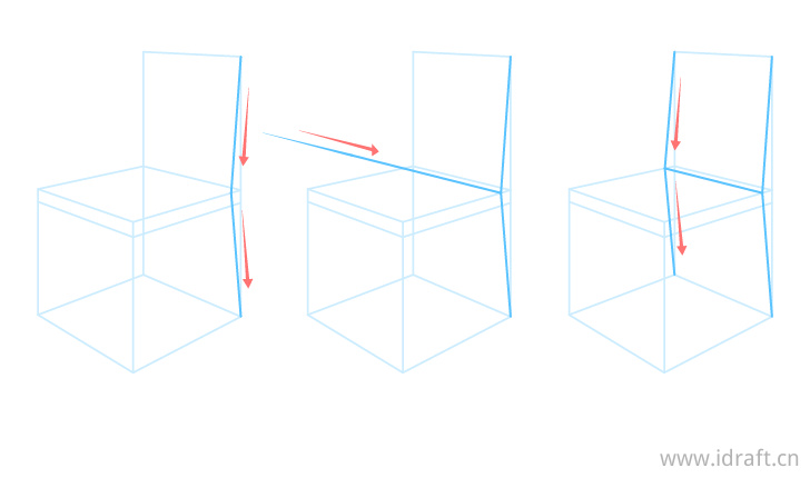 椅背结构图步骤