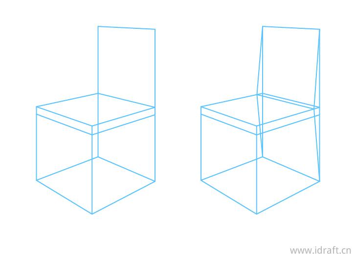 椅子透视靠背结构图