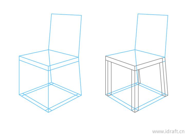 椅子透视腿部特写画法