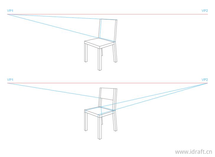 椅子透视画