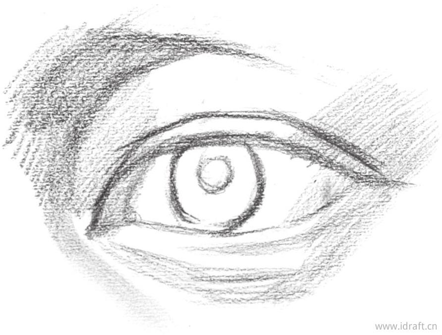 眉弓位置的暗部调子