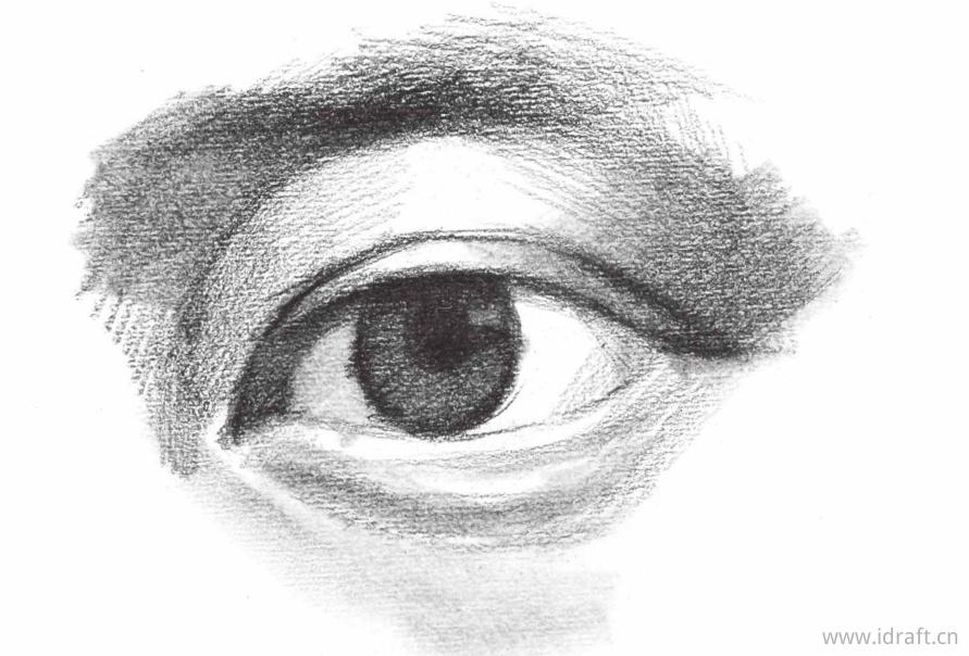 眼球的高光位置
