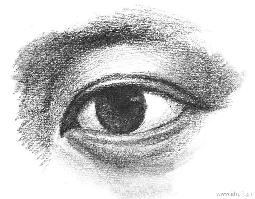 细化下眼睑暗部的色调