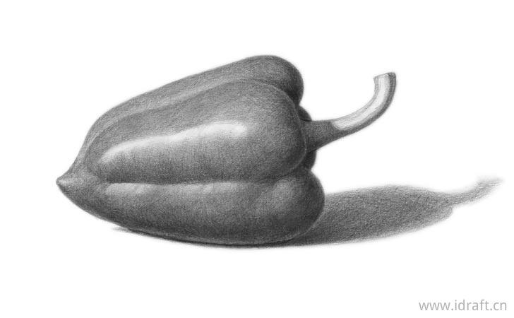 青椒素描图片