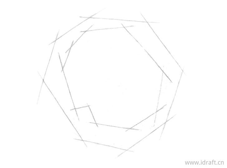 玫瑰内部形状素描